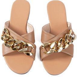 Women Flip-Flops Pearls Bow Sandals Beach Flat Rivets Rain Jelly Gold Pearls   Amazon (US)