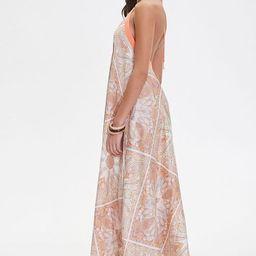 Satin Ornate Print Trapeze Dress | Forever 21 (US)