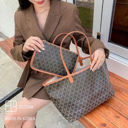 EMO Goyard Inspired Large Tote Bag Trendy Fashion  Classic | Etsy | Etsy (US)
