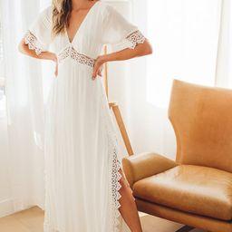 Sweeten the Occasion White Lace Short Sleeve Maxi Dress | Lulus (US)