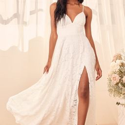 Essence of Love White Lace Sleeveless Maxi Dress | Lulus (US)