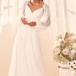 Story of Romance White Lace Long Sleeve Maxi Dress | Lulus (US)
