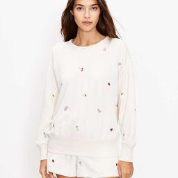 Petite Lou & Grey Fruity Cozy Cotton Terry Sweatshirt   LOFT