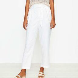 Petite Paperbag Pull On Pants in Linen Blend | LOFT
