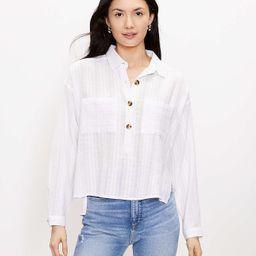 Petite Pocket Henley Shirt | LOFT