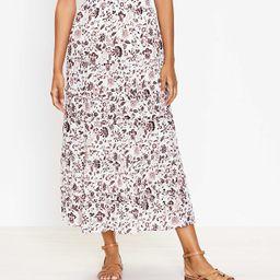 Petite Shimmer Vine Tiered Maxi Skirt | LOFT