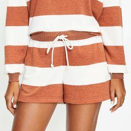 Lou & Grey Striped Cozy Cotton Terry Shorts   LOFT