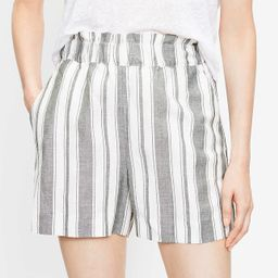 Pull On Shorts in Striped Linen Blend   LOFT