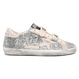 Old School Sneaker in Silver/Pearl   Hampden Clothing