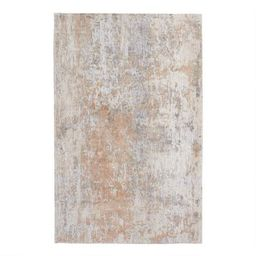 Silver and Peach Abstract Madison Area Rug | World Market