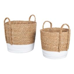 """Mainstays Seagrass & Paper Rope Baskets, Set of 2, 12"""" and 10.25"""", Storage   Walmart (US)"""