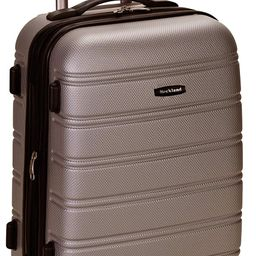 Rockland Melbourne Hardside Expandable Spinner Wheel Luggage, Silver, Carry-On 20-Inch   Amazon (US)