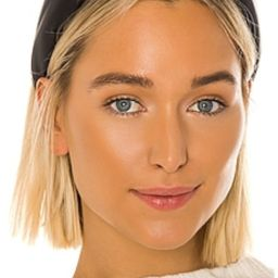 Lele Sadoughi Faux Leather Knotted Headband in Matte Black from Revolve.com   Revolve Clothing (Global)