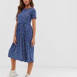 Wednesday's Girl midi smock dress in smudge polka dot   ASOS (Global)