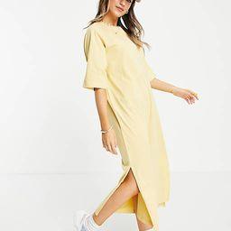 Monki Kenny midi t-shirt dress in yellow   ASOS (Global)
