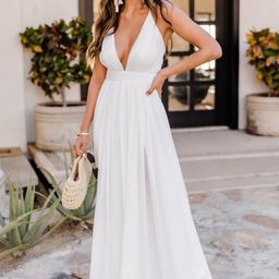 It All Begins With Love White Maxi Dress   The Pink Lily Boutique