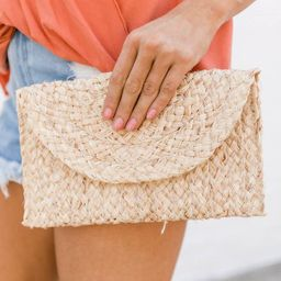 Calling Out To You Straw Clutch   The Pink Lily Boutique