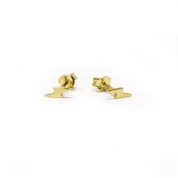 Gold Lightning Bolt Earrings   Allie + Bess