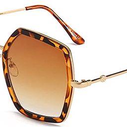 IKANOO Oversized Square Sunglasses for Women Hexagon Inspired Designer Style Shades | Amazon (US)