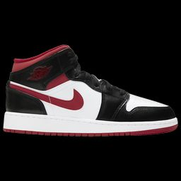 Jordan Boys Jordan AJ 1 Mid - Boys' Grade School Basketball Shoes White/Gym Red/Black Size 04.0   Foot Locker (US)