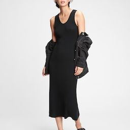 Sleeveless Ribbed Midi Sweater Dress   Gap (US)