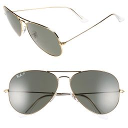 Men's Ray-Ban 'Aviator' Polarized 62mm Sunglasses - Gold | Nordstrom