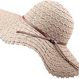 FURTALK Summer Beach Sun Hats for Women UPF Woman Foldable Floppy Travel Packable UV Hat Cotton, ... | Amazon (US)