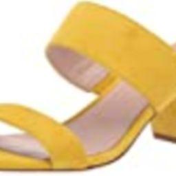 NINE WEST Womens Churen 40 Heeled Sandal Citrine Yellow 8 M   Amazon (US)