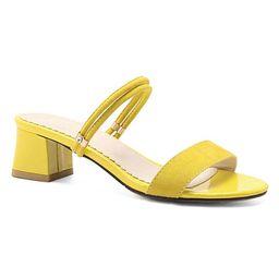 BUTITI Women's Sandals yellow - Yellow Double-Strap Sandal - Women   Zulily
