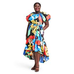 Plus Size Floral Puff Sleeve High-Low Dress - Christopher John Rogers for Target 3X   Target