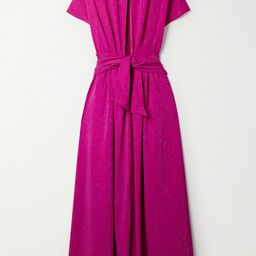 Christopher John Rogers - Cutout Tie-front Crystal-embellished Stretch-crepe Gown - Magenta   Net-a-Porter (US)