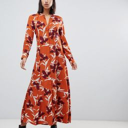 Y.A.S bold floral shirt maxi dress-Multi   ASOS (Global)