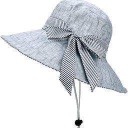 SOMALER Sun Hats for Women Roll-up Wide Brim Summer Beach Hat Foldable Floppy Cotton Hat | Amazon (US)