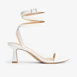 Strappy Square Toe Heels | Express