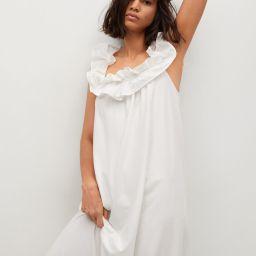 Frill cotton dress   MANGO (US)