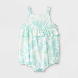 Baby Girls' Tie-Dye Romper - Cat & Jack™ Mint | Target