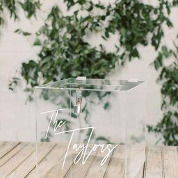 Lock and Key Personalized Acrylic Card Box I Wedding Card Box with Lock | Wedding Money Box | Wed... | Etsy (US)