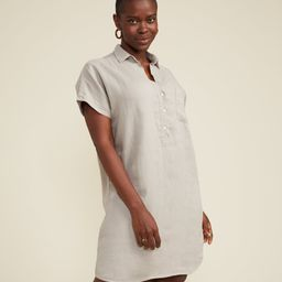 The Artist Short Sleeve Dress Sand, Tumbled Linen   Grayson
