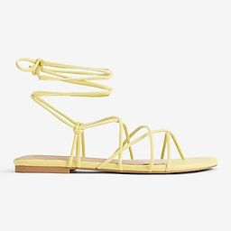 Lace-Up Strappy Sandals   Express