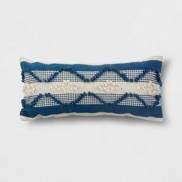 Decorative Woven Lumbar Throw Pillow Navy/Cream - Threshold™ | Target