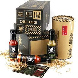 Gourmet Hot Sauce Gift Set, 3 Bottles, Ghost Pepper, Chipotle, Jalapeno Father's Day Sampler for ... | Amazon (US)