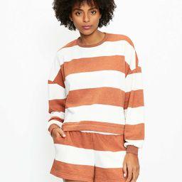 Lou & Grey Striped Cozy Cotton Terry Sweatshirt   LOFT