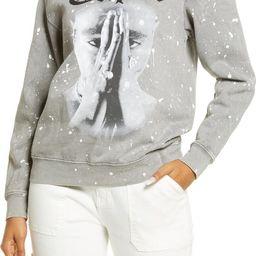 Women's Tupac Pray Graphic Crewneck Sweatshirt | Nordstrom