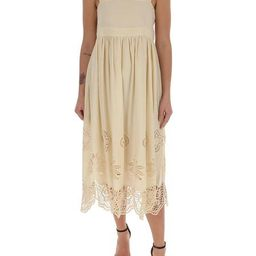 See By Chloé Floral Scallop Midi Dress | Cettire Global