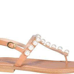 Stuart Weitzman Goldie T-Strap Sandals | Cettire Global