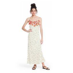 Polka Dot Sleeveless Ruffle Slip Dress - RIXO for Target White | Target