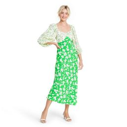 Daisy Long Sleeve Swing Dress - RIXO for Target Green | Target