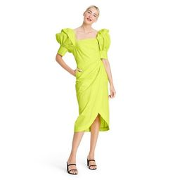 Puff Sleeve Faux Wrap Dress - Christopher John Rogers for Target Yellow | Target