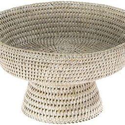 KOUBOO La Jolla Rattan Fruit Bowl, 10.5 inches x 10.5 inches x 6 inches, White Wash   Amazon (US)