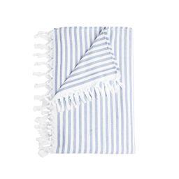 stripe beach towel, blue   minnow